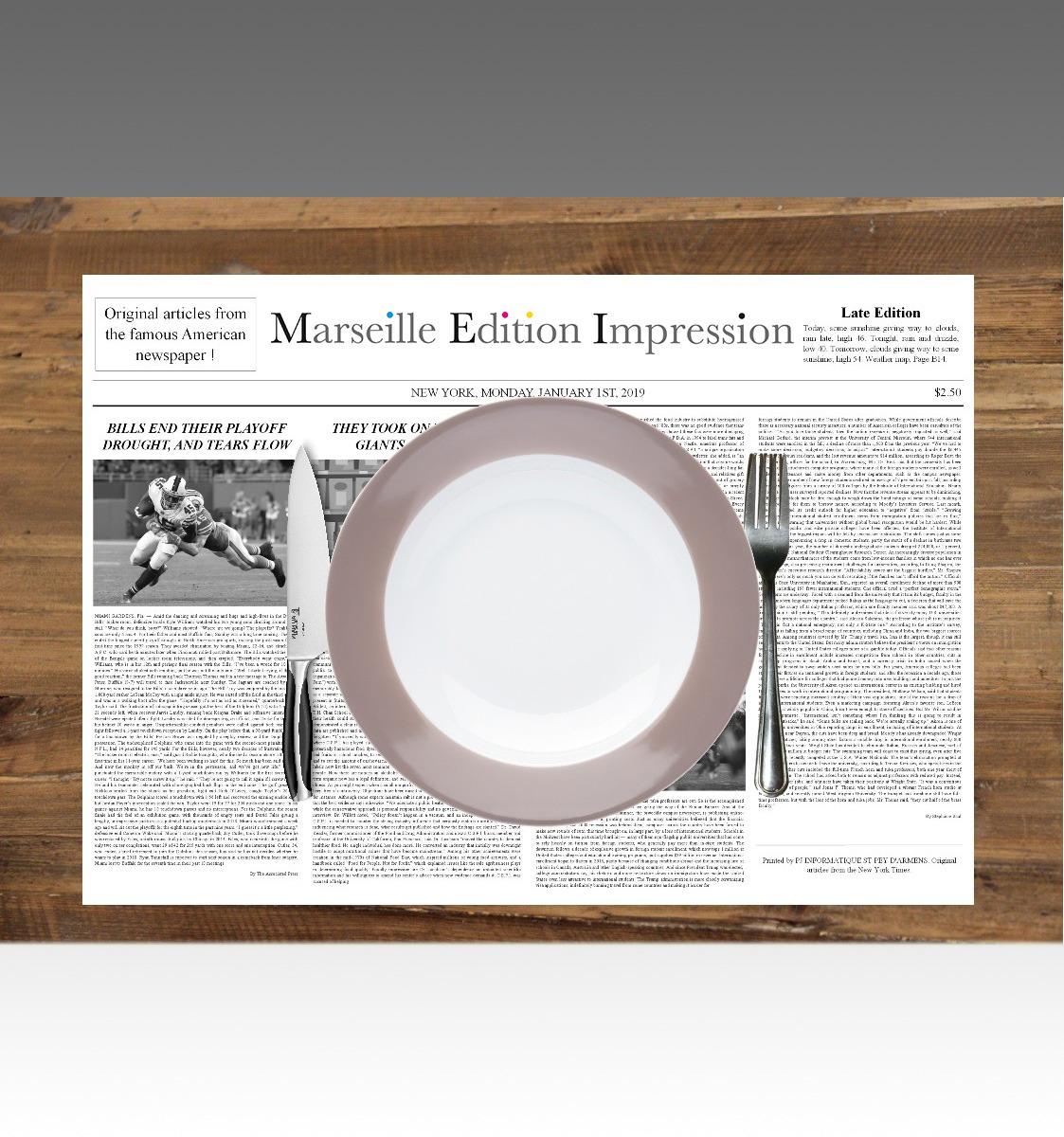 Set De Table Imprimerie Marseille Edition Impression
